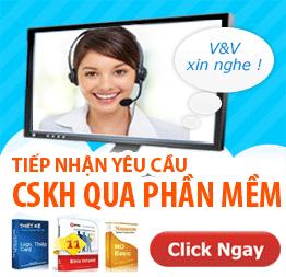 Tiếp nhận yêu cầu CSKH qua phần mềm