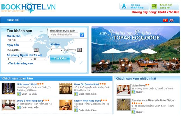 thiet ke website du lich bookhotel.vn
