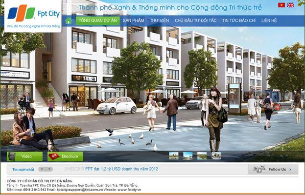 thiet ke website bat dong san fpt city