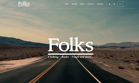 giao dien thiet ke web ban hang folk design